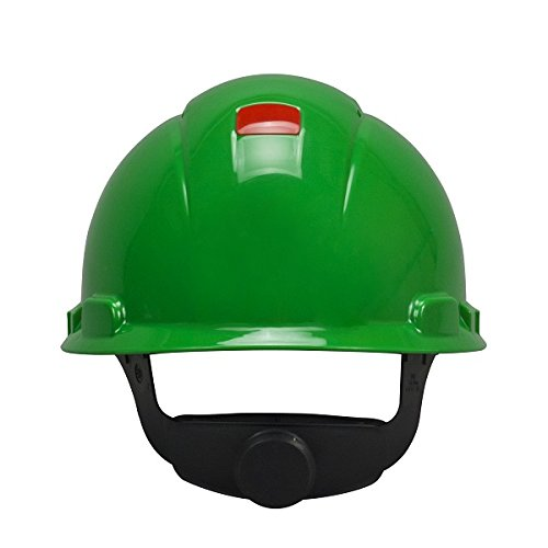 3M Hard Hat with Uvicator H-704V-UV, Vented, Green, 4-Point Ratchet Suspension from 3M Personal Protective Equipment