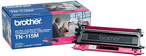Brother TN115M Toner Cartridge, High Yield, Magenta