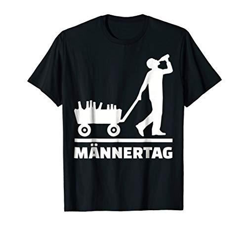 Mens Maennertag Vatertag Bollerwagen T-Shirt