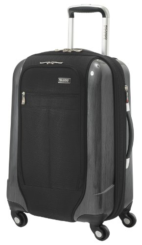 Ricardo Beverly Hills Luggage Crystal City 20 Inch Expandable Spinner Carry-on Bag, Black, Medium