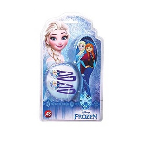 AS COMPANY 1027-25524 Frozen Hair Brush with Clips Multicolour