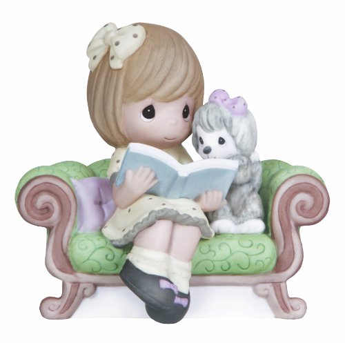 Porcelain Puppy (Precious Moments,  The Best Adventures Are Shared With A Friend, Bisque Porcelain Figurine, 132017)