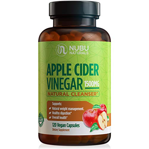 Raw Apple Cider Vinegar Capsules - All Natural (1500mg | 120 Vegan Pills) Weight Loss, Detox, Cleanse & Diet Support - Pure Extract, Fast Extra Strength Keto Fat Burner for Women & Men, ACV