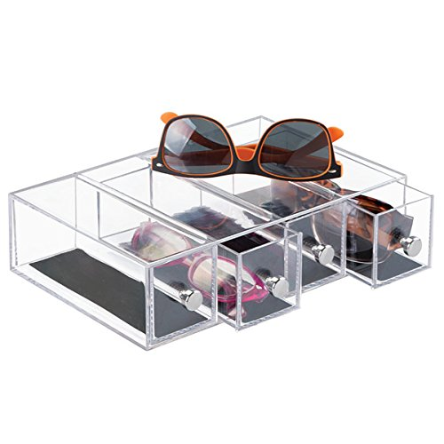 b3d46c77b369 Amazon.com  mDesign Stackable Watch   Eyeglass Organizer Holder for  Sunglasses