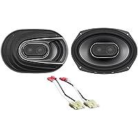 6x9 Polk Audio Front Speaker Replacement Kit For 2006-2008 Dodge Ram 1500