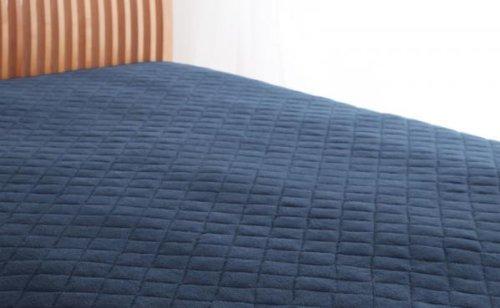 綿100%で快適!敷パッド 同色2枚セット (セミダブル) ミッドナイトブルー B0727TB95X セミダブル|ミッドナイトブルー ミッドナイトブルー セミダブル