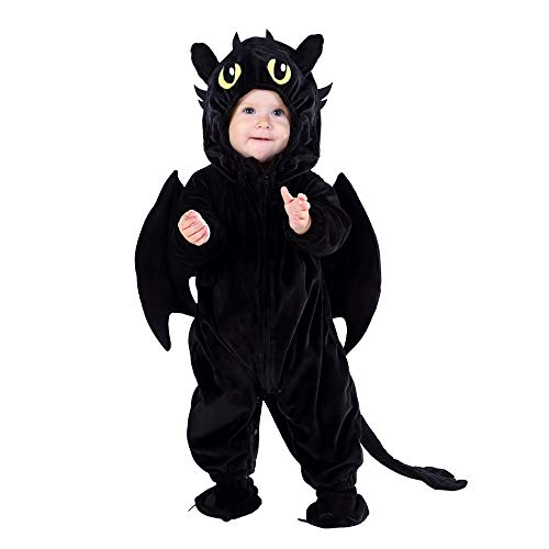 Hsctek Toddler Dragon Costume 2t,Kids and Baby Costumes 24 Months,Funny Infant Baby Halloween Costumes for Girls