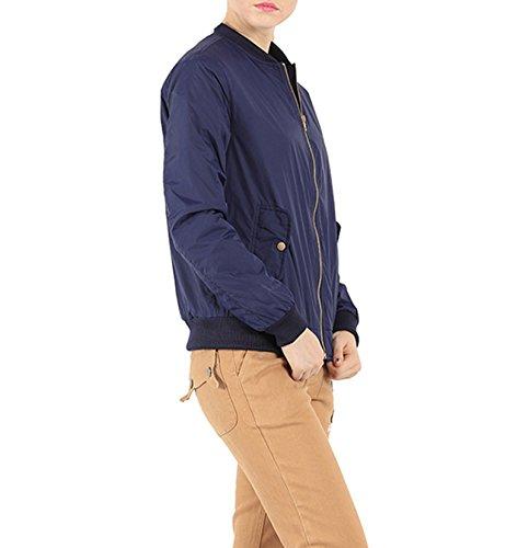 Dantiya Abrigo Azul Parka Coat Chaqueta para mujer