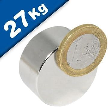 10 Neodym Würfelmagnete 5x 5x 5 mm N42 Nickel hält 1,5 kg Power Magnete stark