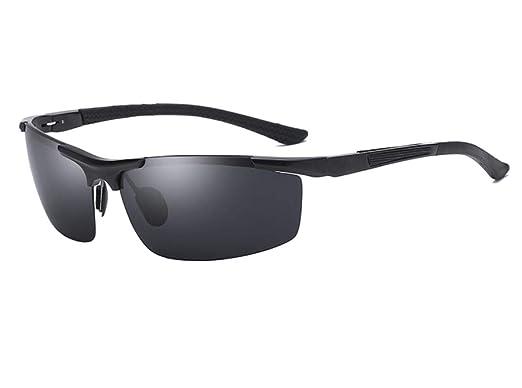 ALHM Gafas De Sol Polarizadas De Aluminio Y Magnesio Para Hombres Que Conducen Gafas De Sol De Medio Cuerpo: Amazon.es: Ropa y accesorios