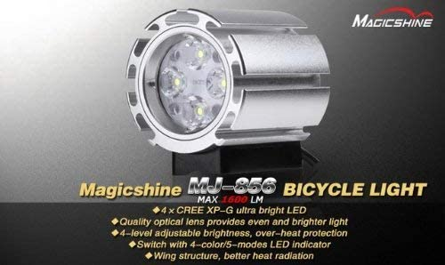 Magicshine MJ-856B O-ring mount 1600 Lumen LED Bike Light with Improved Default Battery Pack