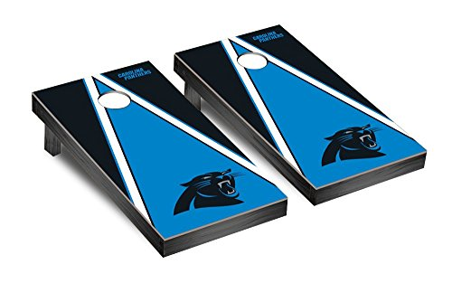 NFL Carolina Panthers Triangle Version Football Corn hole Game Set, One Size by Victory Tailgate