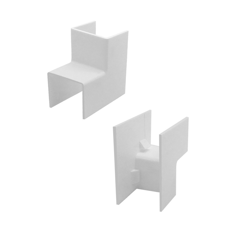 ARLI Kabelkanal 16x16mm 1x Eckst/ück innen PVC Installationskanal Zubeh/ör Ecken Montage