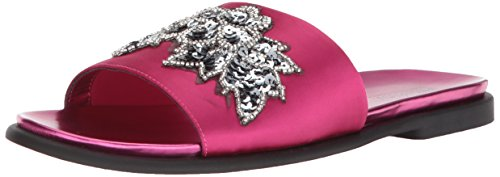 - Kenneth Cole REACTION Women's Jel-OUS Embellished Slip On Slide Sandal Fuchsia, 9.5 M US