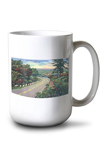 - Lantern Press Rock City, New York - Highway Scene from Lookout Mt to Rock City (15oz White Ceramic Mug)