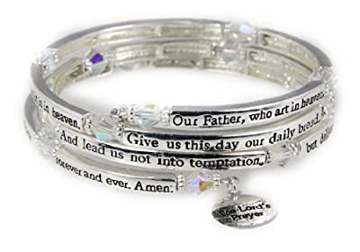 4030561 The Lord's Prayer Christian Stretch Bracelet Jesus Religious Christ B... from The Quiet Witness