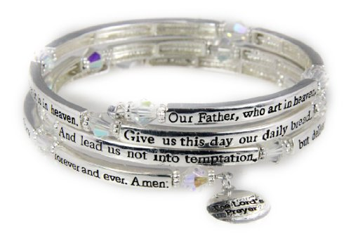 (4030561 The Lord's Prayer Christian Stretch Bracelet Jesus Religious Christ)