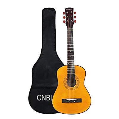 30 Inch Acoustic Guitar,1/2 Size Mini Guitars for Kids/Beginners/Child with Gig Bag Natural Guitar