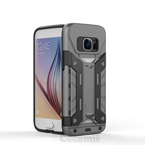 Cocomii Transformer Armor Galaxy S7 Case New [Heavy Duty] Premium Built-in Multi Card Holder Kickstand Shockproof Bumper [Military Defender] Full Body Rugged Cover for Samsung Galaxy S7 (T.Gray)