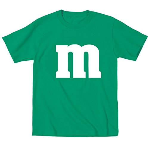 Funny Threads Outlet M Candy Costume Cute Halloween Outfit Group Kids Children Humor Toddler Shirt 4T Green