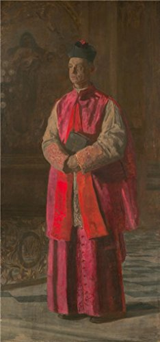 - Oil Painting 'Thomas Eakins,Monsignor James P. Turner,ca.1906' Printing On High Quality Polyster Canvas , 10x21 Inch / 25x54 Cm ,the Best Kitchen Gallery Art And Home Decor And Gifts Is This Vivid Art Decorative Canvas Prints
