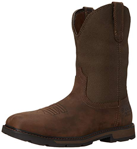 Ariat Mens Groundbreaker Sq Toe H20 Steel Toe Clogs/Shoes 9.5 D/Medium(Width) Palm Brown Ariat Steel Toe Work Boots