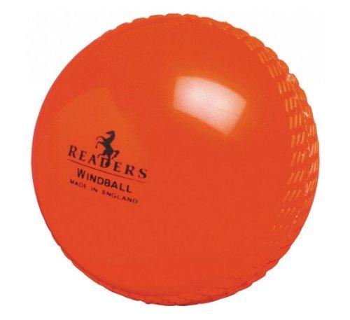 (Readers Windball practice cricket ball - bulk discounts (Orange - senior, 6 ball pack))
