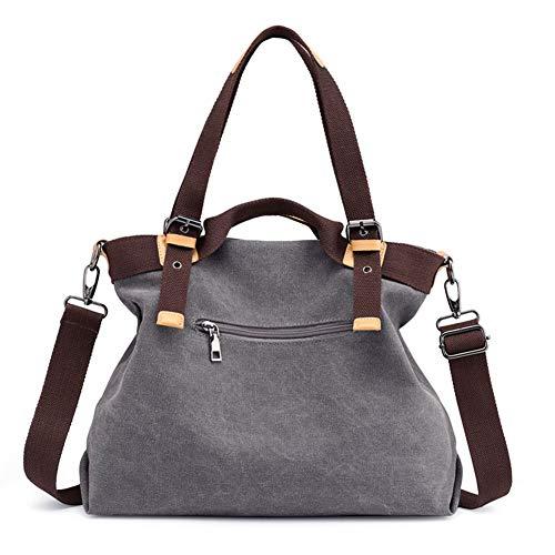 Hobo Travel Shoulder Womens Totes Fashion KARRESLY Crossbody Bag Multi pocket Purses Canvas Brown Handbags Bags qtX00wT
