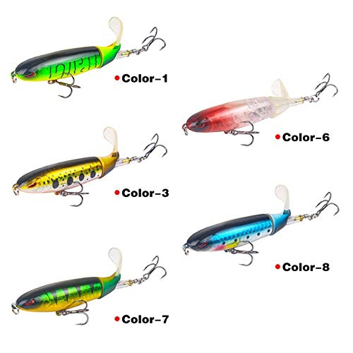 10CM 13G Whopper Popper Topwater Fishing Lure 3D Eyes Plastic Artificial Bait Hard Fishing Plopper Hook Fishing Accessories