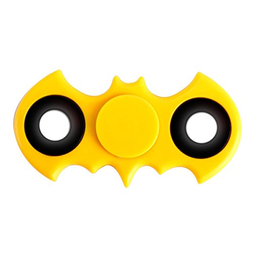 Price comparison product image Yellow Bat Fidget Hand Spinner Edc Anti-Anxiety Stress Reducer Focus Toy
