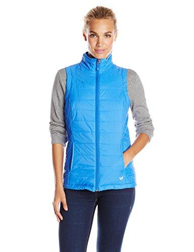 White Sierra Women's Peak Packable Vest, Medium, Blue Ice - Soft Touch Microfiber Jacket