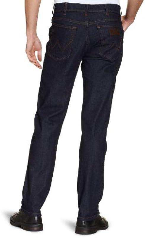 Dżinsy Wrangler-Texas- – czarnym przebarwione – dla mężczyzn: Odzież