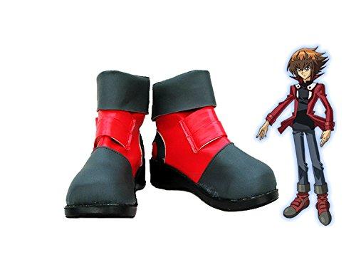ラウンジ乱気流なだめる遊☆戯☆王GX Jaden Yukiコスプレ靴ブーツカスタムMade