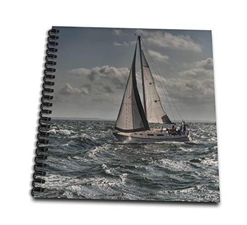 3dRose db_203178_1 - Libreta de Dibujo con Agua turbulenta (8 x 8)