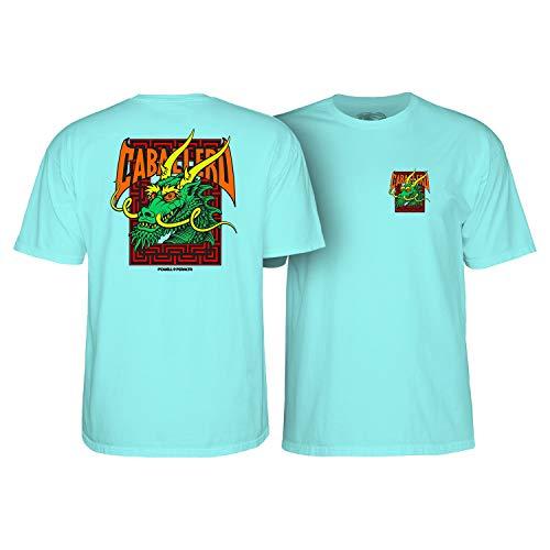 (Powell-Peralta Skateboard Shirt Cab Street Dragon Celadon Size M)