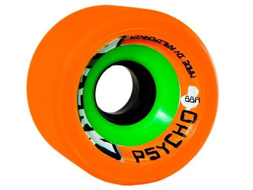 BZerk Psycho Wheels - 88A Orange Skate Wheels - B'Zerk Derby Wheels