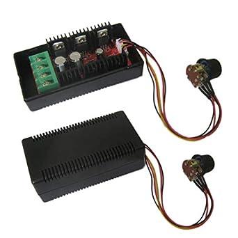 9-50V 40A DC Motor Speed Control PWM HHO RC Controller 12V 24V 48V 2000W MAX NEW