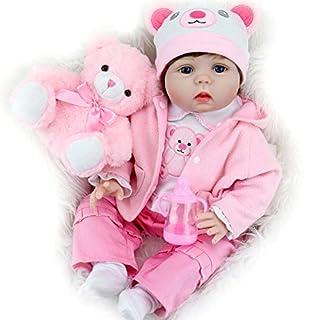 Aori Reborn Baby Dolls 22 Inch Handmade Vinyl Realistic Baby Girl Doll with Soft Body for Girls' Birthday