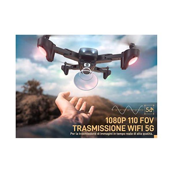SNAPTAIN SP500 1080P Drone con GPS Telecamera FHD, Trasmissione WiFi 5G, modalità Ritorno Home, modalità Seguimi, Controllo dei Gesti, Volo Circolare, modalità Hover per i Principianti 2 spesavip