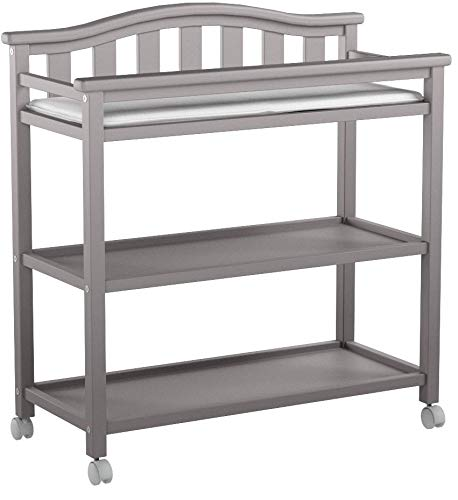 Delta Children Bell Top Changing Table with Casters, Grey by Delta Children (Image #7)