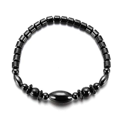 (TIDOO Jewelry Womens Magnetic Hematite Anklet Therapy Necklace Hematite Round Beads Healing Stone Chain(3#) )