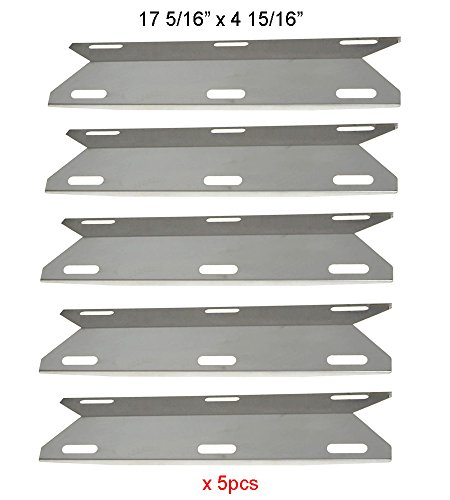 SH3041 (5-pack) Stainless Steel Gas Grill Heat Plate / Heat Shield for Charmglow, Kirkland, Permasteel, Nexgrill Model Grills and Others