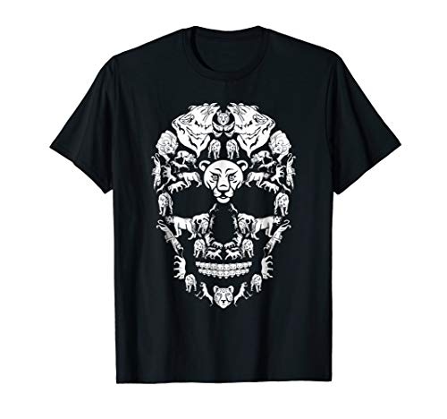 Lioness Skull Shirt Skeleton Halloween Costume Idea Gift