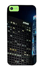 07cb75c5458 Los Angeles La Buildings Skyscrapers Night Protective Case Cover Skin/iphone 5c Case Cover Appearance