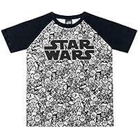 Camiseta Manga Raglan em Meia Malha Star Wars, Fakini, Meninos