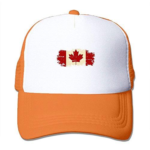 TO-JP Vintage Canada Flag Mesh Hat Baseball Caps Adjustable Trucker Cap Headwear (Canada Playsets)