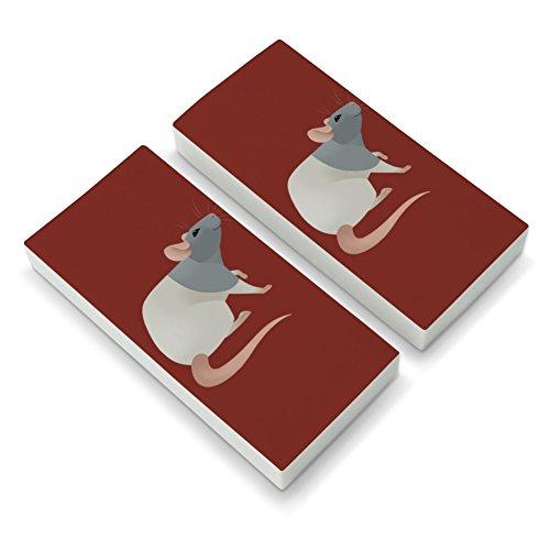 Hooded Rat Eraser Set of 2 -
