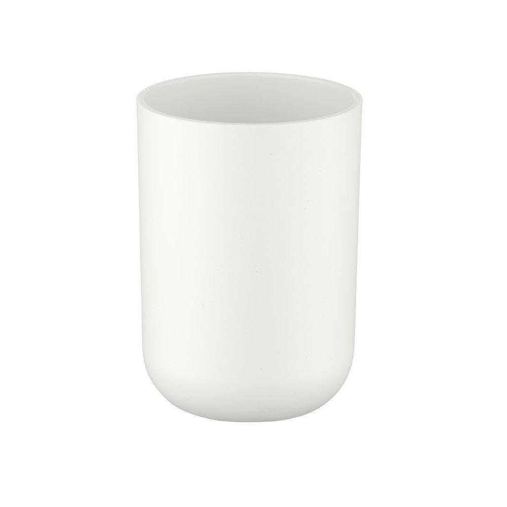 Wenko 21203100 Brasil Gobelet à Dents Blanc 7, 3 x 7, 3 x 10, 3 cm