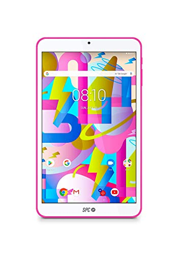 SPC Lightyear Android-tablet, 20,3 cm (8 inch), IPS-display, intern geheugen 16 GB, RAM 2 GB, WLAN, Bluetooth, roze
