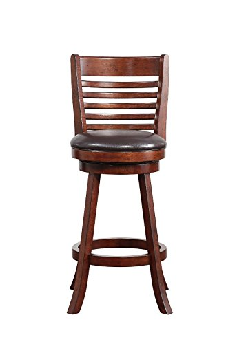 Boraam 63729 Tierra Bar Height Swivel Stool, 29-Inch, Hazelnut (Cabinet Height Bar Stools)